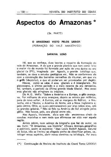 Aspectos do 'Amazonas * - Instituto do Ceará