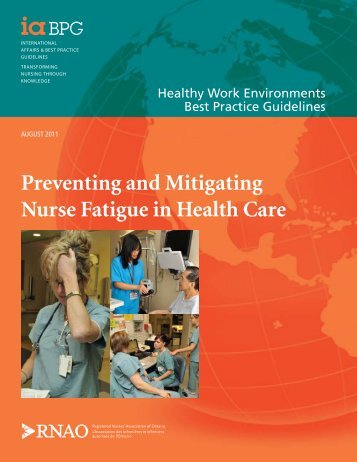 Preventing and Mitigating Nurse Fatigue in Health Care - Registered ...
