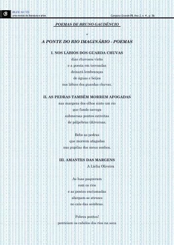 A PONTE DO RIO IMAGINÁRIO - POEMAS - Revista Blecaute