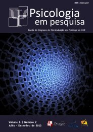 Volume 6   Número 2 Julho - Dezembro de 2012 - Universidade ...