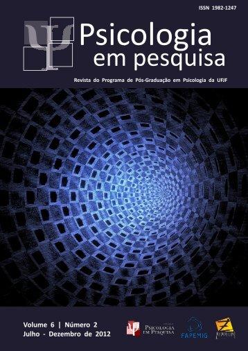 Volume 6 | Número 2 Julho - Dezembro de 2012 - Universidade ...