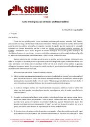 Carta em resposta ao vereador professor Galdino - Dohms Web