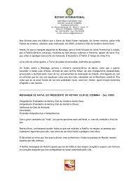 Mensagem de Natal 2003 - Rotary Club Coimbra