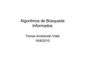 Algoritmos de Búsqueda Informados