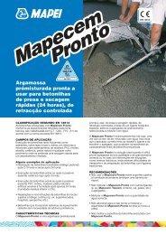 Mapecem PrPronto Mapecem Pronto - Construlink.com