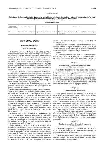 Portaria n.º 1319/2010. DR n.º 250, SÉRIE I de 2010-12-28