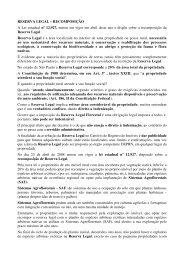 RESERVA LEGAL – RECOMPOSIÇÃO A Lei estadual nº ... - Outorga