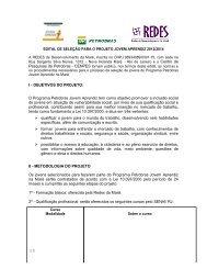 OBJETIVOS DO PROJETO - Redes de desenvolvimento da Maré