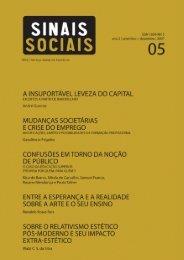 Revista Sinais Sociais N5 pdf - Sesc