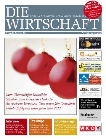 Die Wirtschaft Nr. 50 vom 16. Dezember 2011