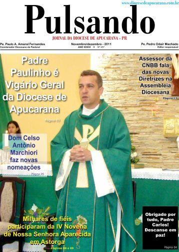 Padre Paulinho é Vigário Geral da Diocese de Apucarana