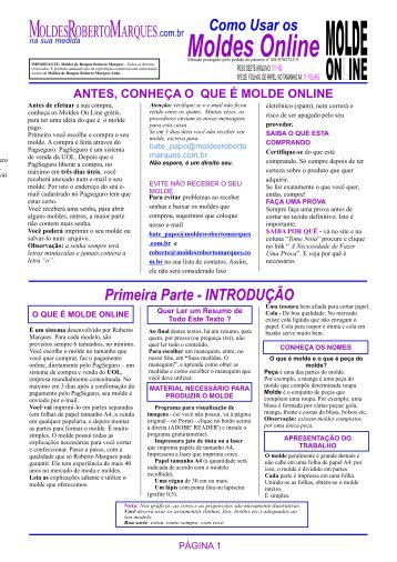 Moldes Online - Moldes Roberto Marques