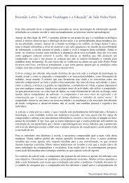 """""""As Novas Tecnologias ea Educação"""" de João Pedro Ponte"""