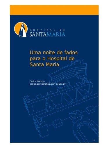 Uma noite de fados para o Hospital de Santa Maria