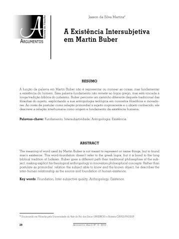 A Existência Intersubjetiva em Martin Buber - Curso de Filosofia - UFC