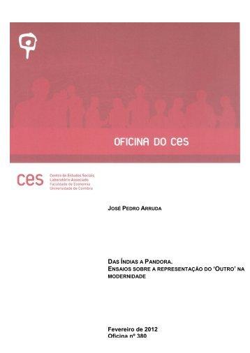 Visualizar Documento - Centro de Estudos Sociais - Universidade ...