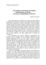 Personagens e narradores do romance contemporâneo no Brasil