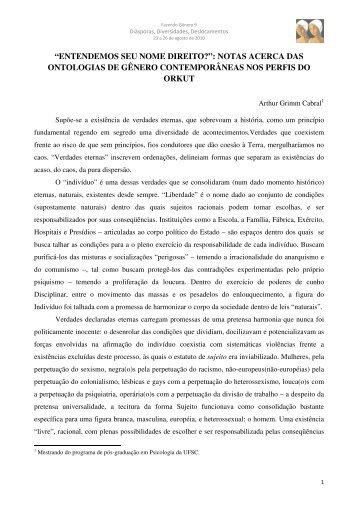 Arthur Grimm Cabral - Fazendo Gênero 10 - UFSC