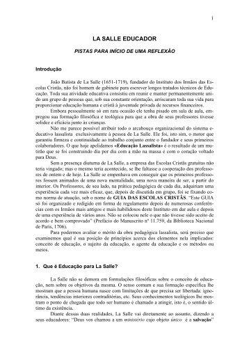 LA SALLE EDUCADOR - Portal La Salle