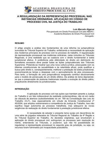 Luis Marcelo Algarve - ABDPC