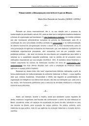 A organização dos Intelectuais no Brasil - Departamento de ...