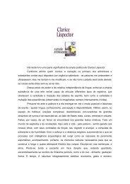 CLARICE LISPECTOR A LEGIÃO ESTRANGEIRA Contos