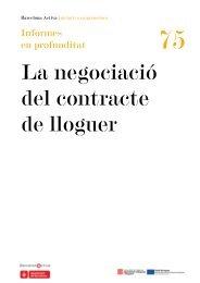 La negociació del contracte de lloguer - BarcelonaNetActiva