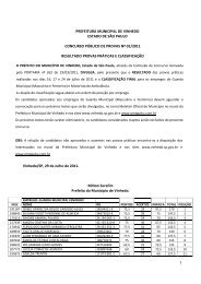 1 PREFEITURA MUNICIPAL DE VINHEDO ESTADO DE SÃO ...