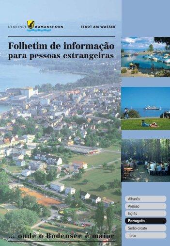 Folhetim de informação para pessoas estrangeiras