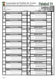 Mod 7.1 Ficha Jogo Fut11 - Associação de Futebol de Aveiro