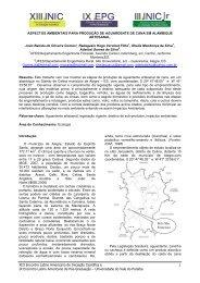 aspectos ambientais para produção de aguardente de cana ... - INIC