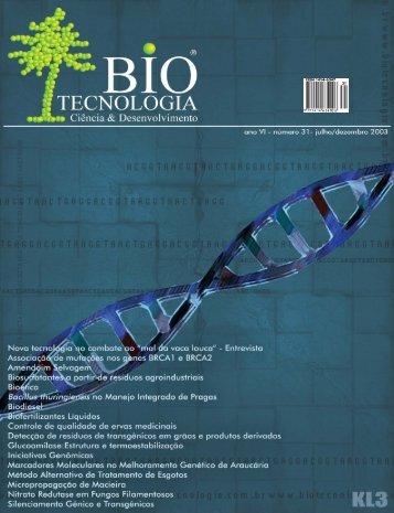 Revista Biotecnologia Ciência & Desenvolvimento - Edição nº 31