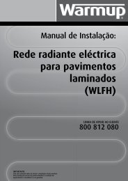 Rede radiante eléctrica para pavimentos laminados (WLFH) - Warmup