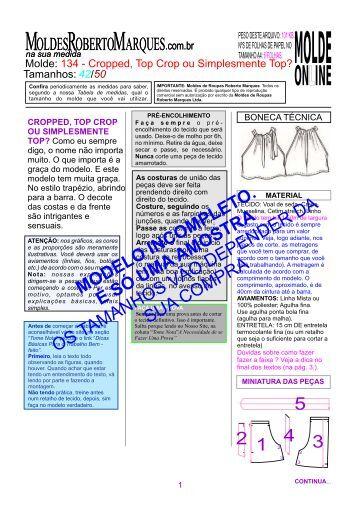 molde-134_Cropped, top Crop ou top_Ver - Moldes Roberto Marques