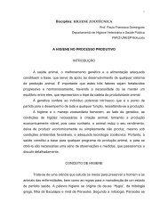HIGIENE ZOOTÉCNICA - Faculdade de Medicina Veterinária e ...