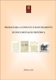 regras para a consulta e manuseamento de documentação histórica