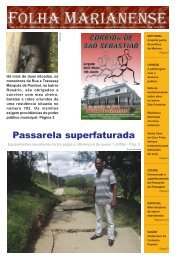 Passarela superfaturada - Folha Marianense