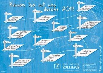 Reiseroute 2011. - Hotel Restaurant Zollhaus, Gams