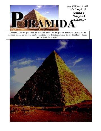 "PIRAMIDA NR 15 - Colegiul Tehnic ""Anghel Saligny"""