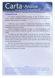 Carta de Conjuntura no. 4 - PUC Minas