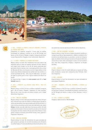 1º DIA – LISBOA ou PORTO / RIO DE JANEIRO ... - Nortravel