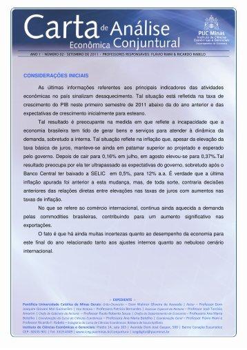 Carta de Conjuntura no. 2 - PUC Minas