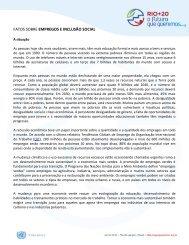 Empregos e inclusão social - ONU Brasil