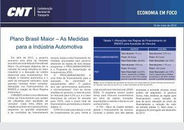 Plano Brasil Maior – As Medidas para a Indústria Automotiva - CNT