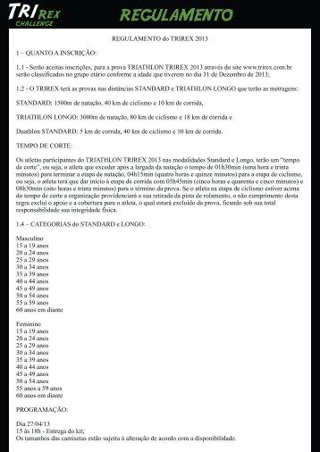 REGULAMENTO TRIREX 2013