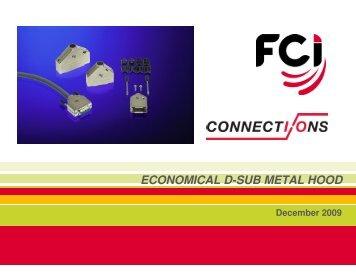 Economical D-Sub Metal Hood - FCI