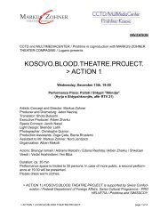 KOSOVO.BLOOD.THEATRE.PROJECT. - Markus Zohner Theater ...