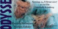 Postkarte ODYSSEE Stadthalle Kronberg - Markus Zohner Theater ...