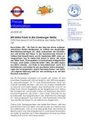 Presse- Information............. - Heide Park