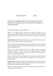 """PROJETO DE LEI N° /2012 """"Dispõe sobre a ... - Turma do Bem"""